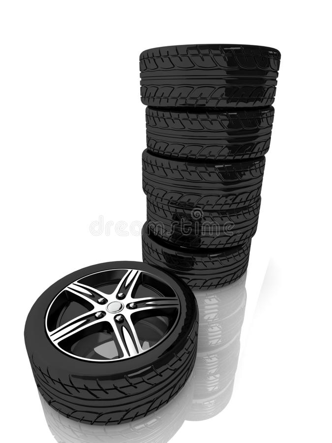 Download 3d tower from wheels stock illustration. Image of closeup - 25069255