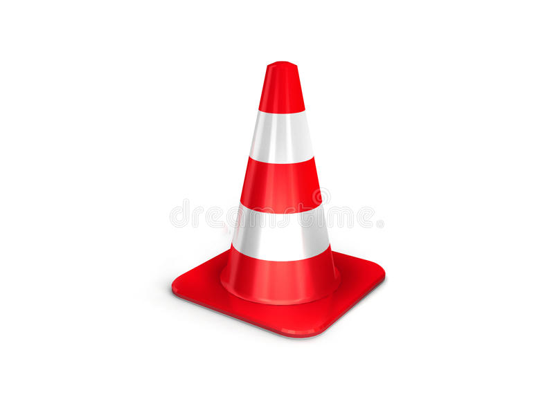 The 3d Traffic Cones Royalty Free Stock Images