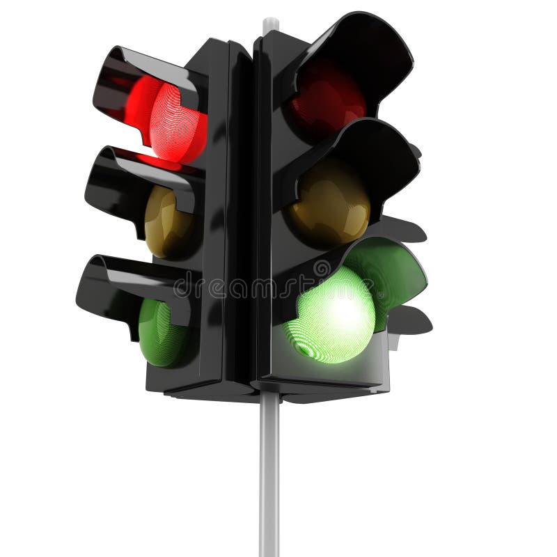 Download 3d traffic lights stock illustration. Image of front - 27653683