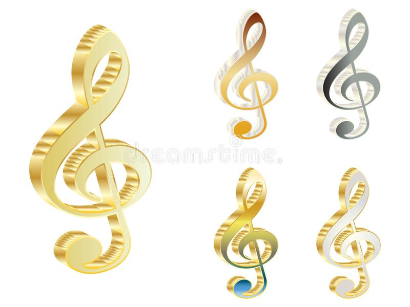 3d treble clef stock photos
