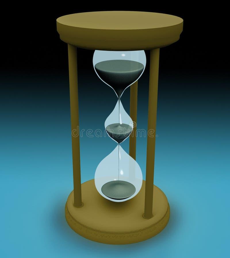 3d triple hourglass. Concept stock illustration