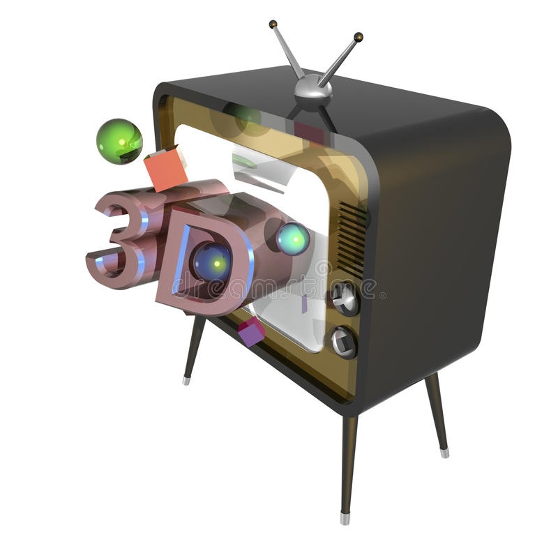 3d tv ilustracja wektor