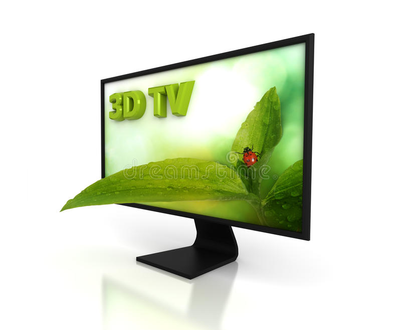 3D TV illustration libre de droits