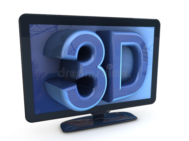 3D TV illustration stock