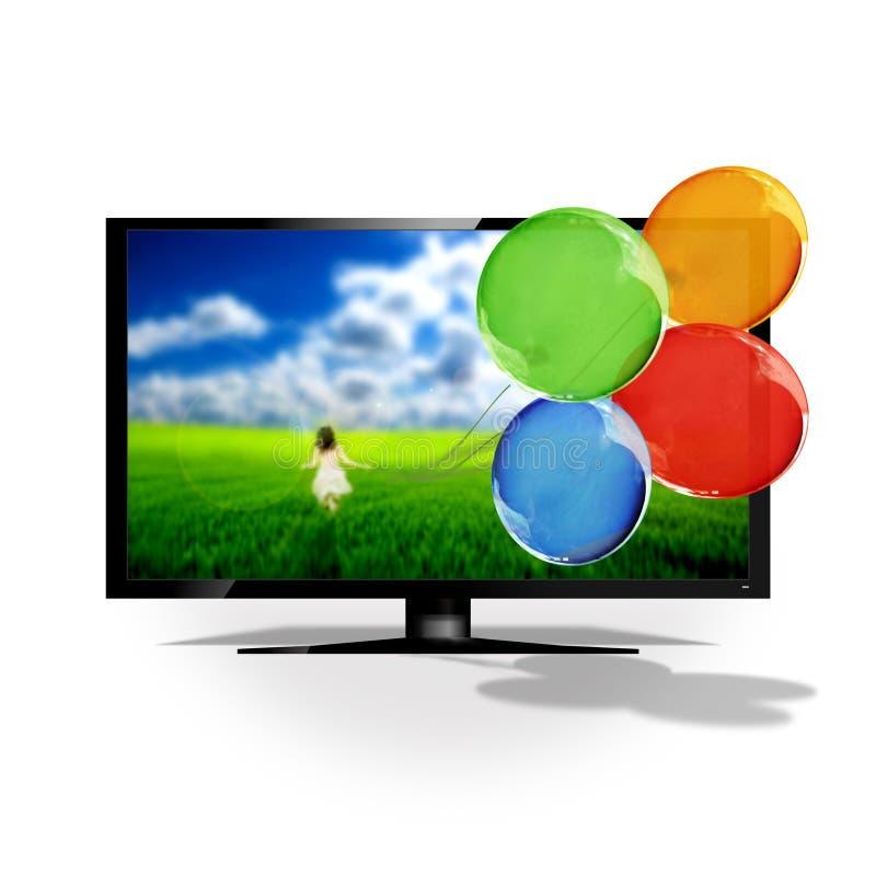 3D TV illustration stock