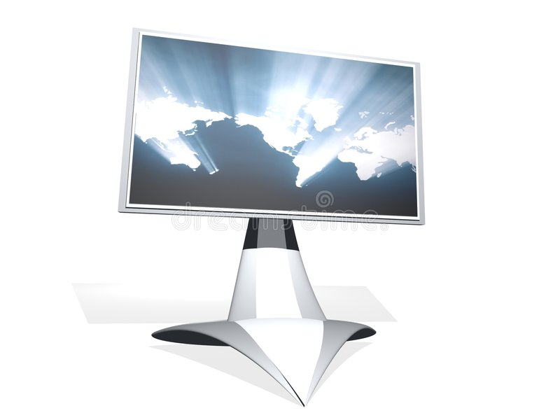3D tv monitor stock photo
