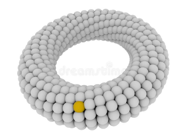 Download 3D twisted torus stock illustration. Illustration of white - 17575082