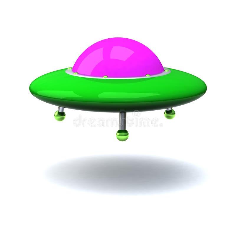 3d Ufo royalty-vrije illustratie