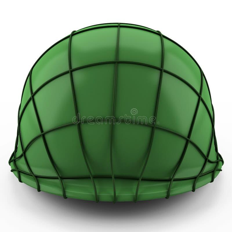 3d USA army Helmet Second World War stock illustration