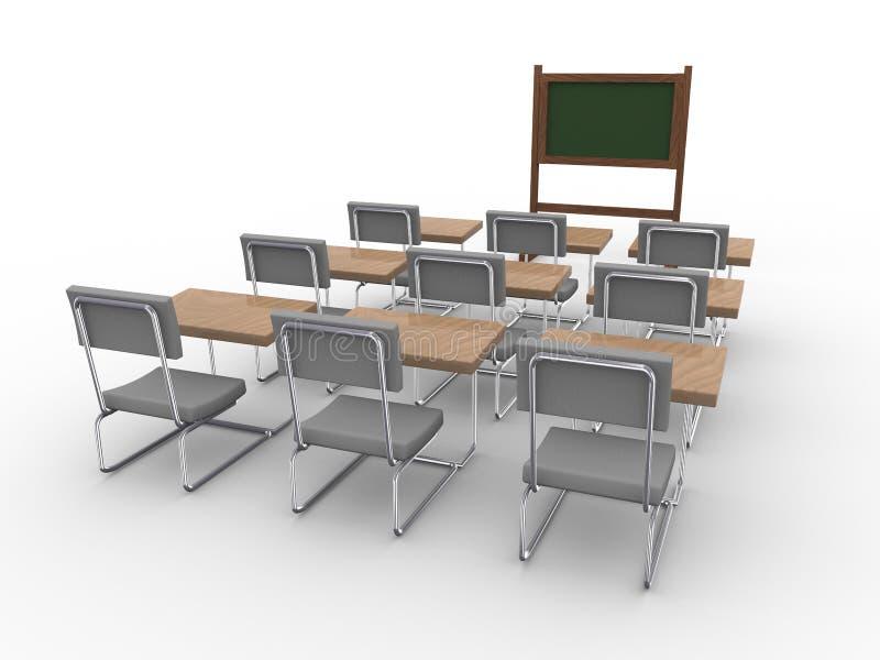 3d vacian la sala de clase ilustración del vector