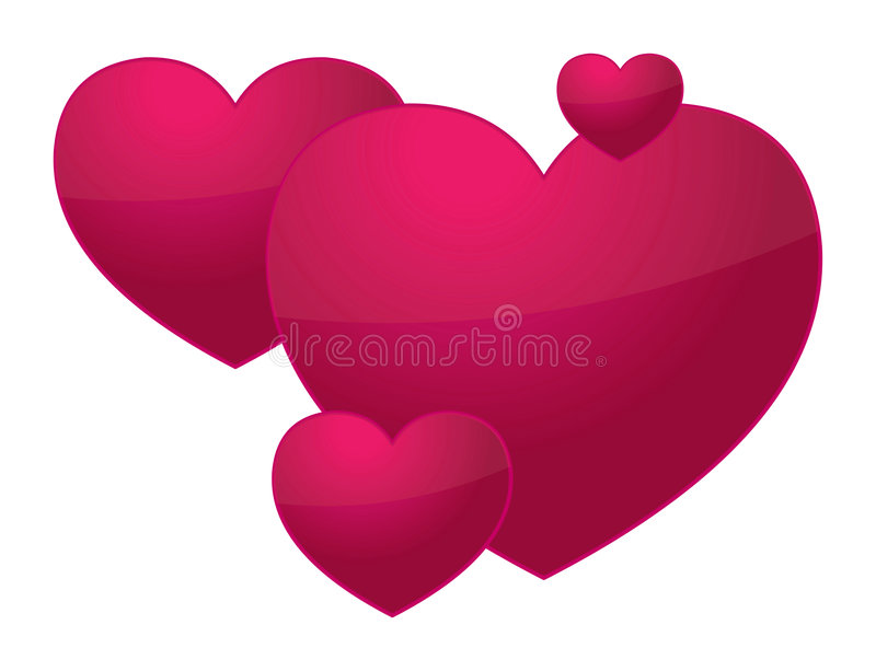 Download 3D Valentine Hearts Stock Photos - Image: 7932653