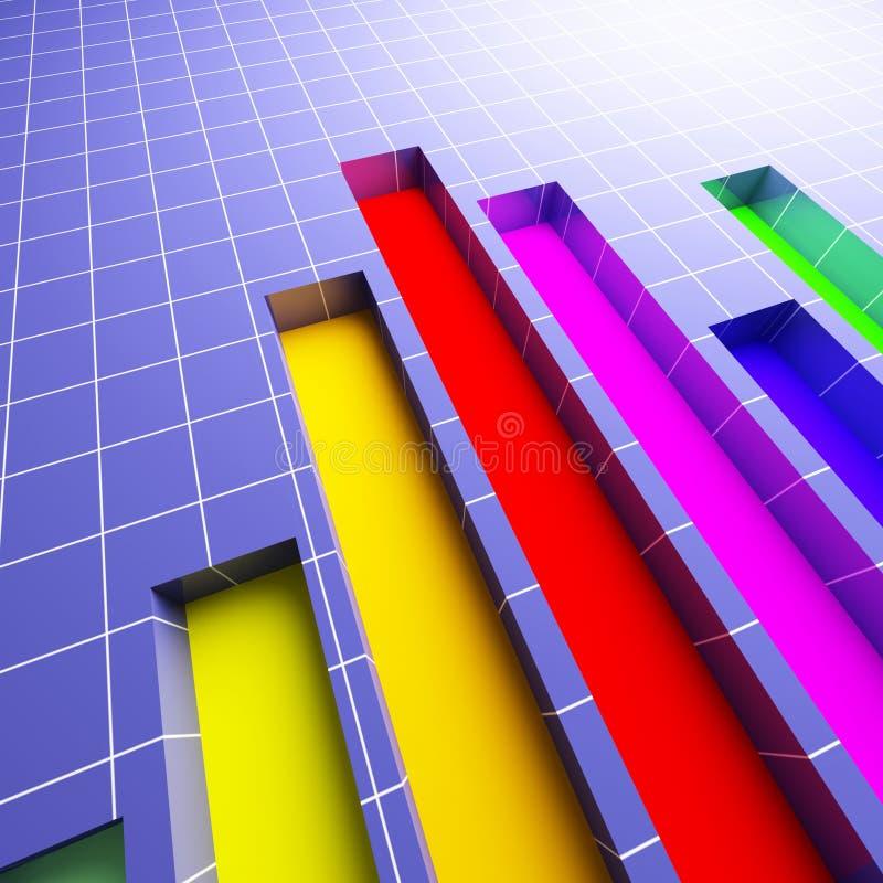 3d van financiële statistiekgrafiek stock afbeeldingen