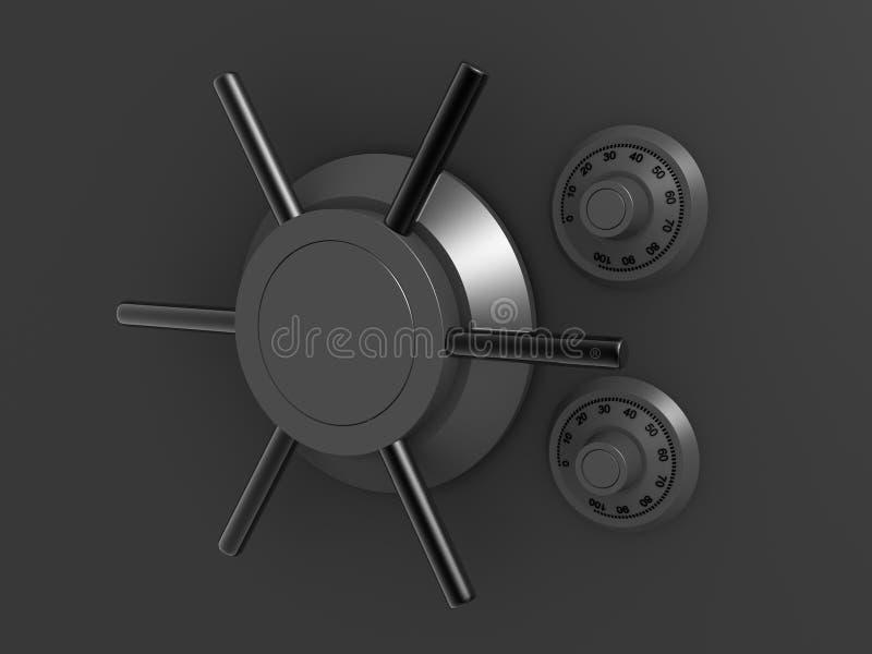 3d vault vector illustration