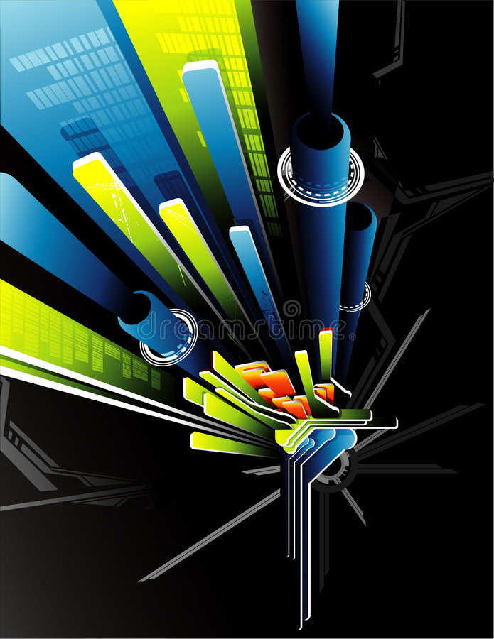 Download 3d Vector Abstract Composition Stock Vector - Image: 8221645