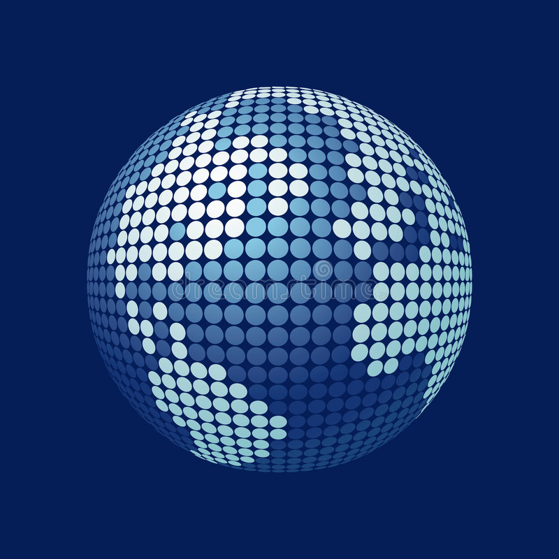 3D vector globe royalty free illustration