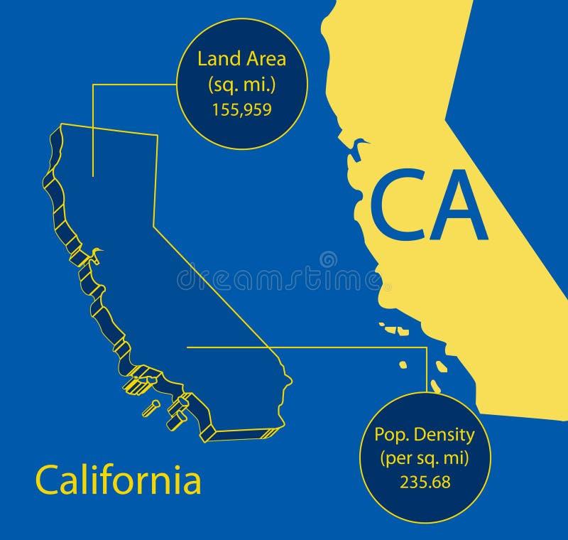 Download 3D Vector Grafische De Kaartinfo Van Californië Vector Illustratie - Illustratie bestaande uit kaarten, symbolisch: 29512370