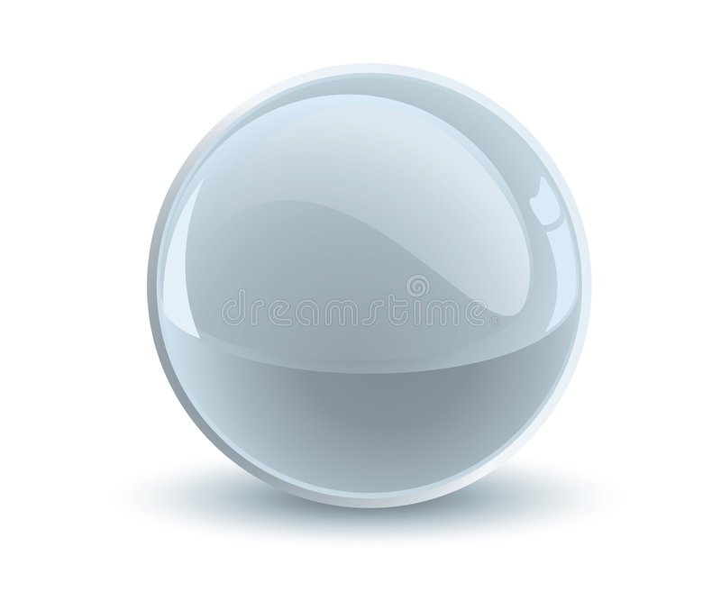 3d vector gray sphere stock illustration