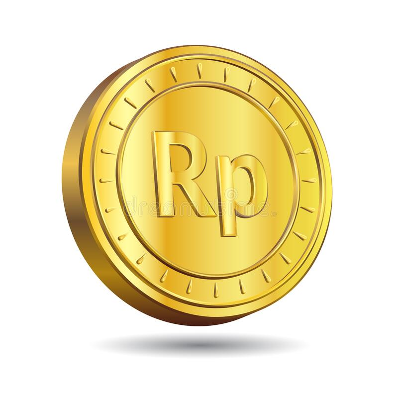 Free 3D Vector Illustration Of Gold Rupiah Coin Isolated On White Color Background. Indonesian Currency Symbol Royalty Free Stock Photos - 224991158