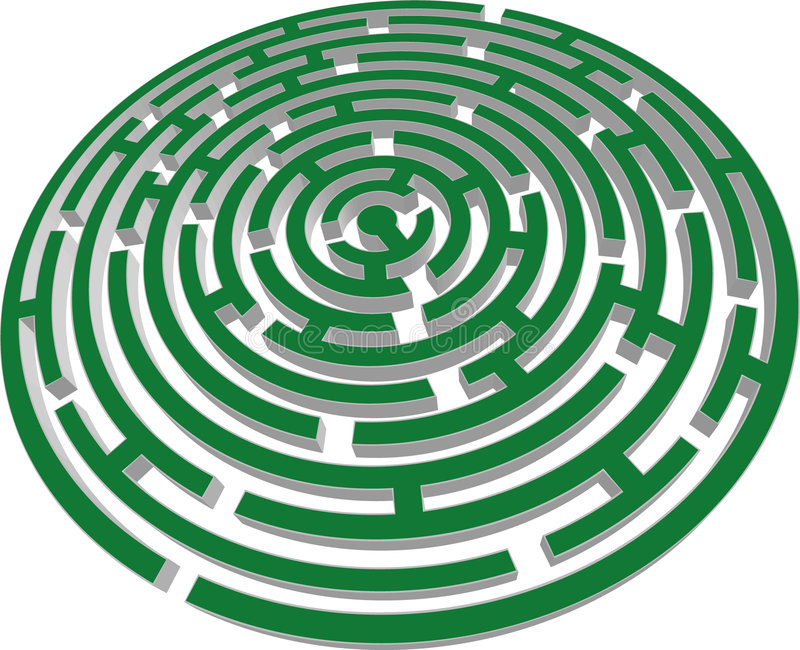 Download 3d Vector Labyrinth Stock Photography - Image: 7994092