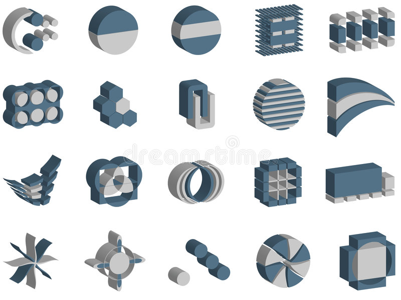 3d vector logos and elements