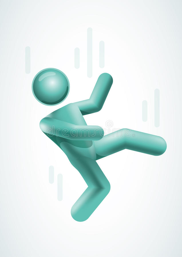 Download 3d Vector Man Falling Down. Stock Vector - Image: 27623646