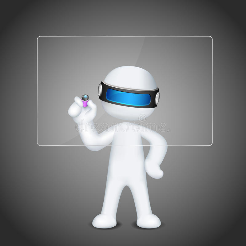 Download 3d Vector Man Writing On Board Stock Images - Image: 24918334