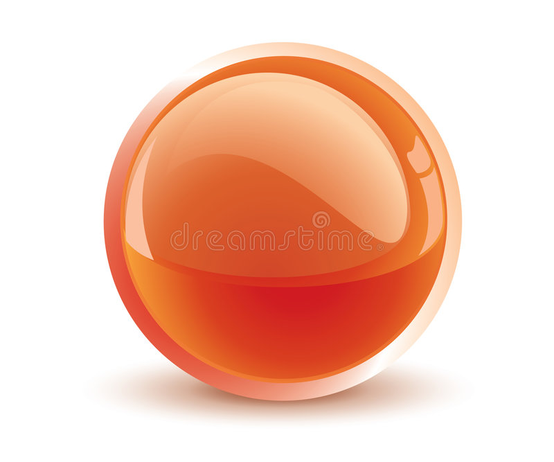 3d vector orange sphere vector illustration