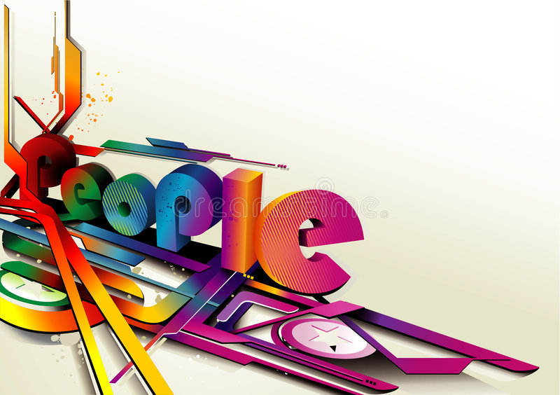Download 3d vector people text stock vector. Illustration of extrusion - 8221629
