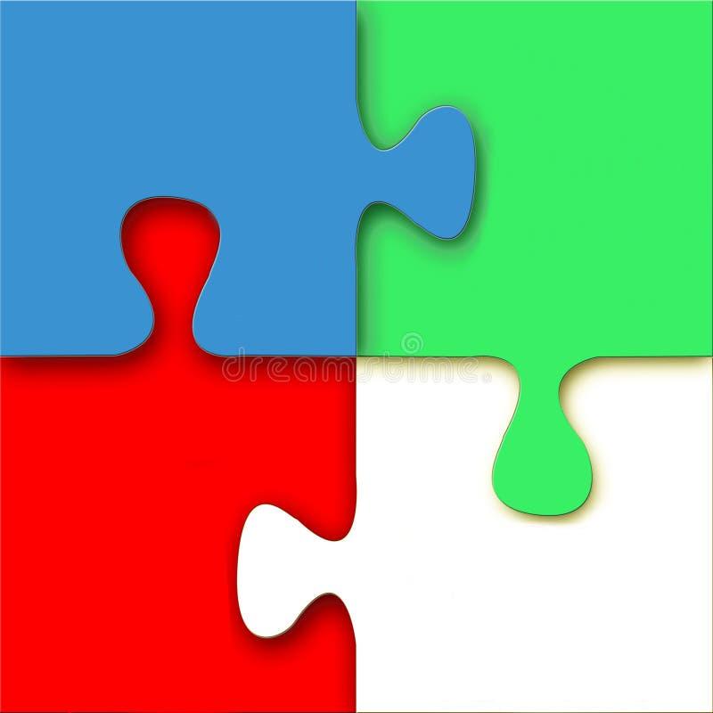 3D Vector Puzzle vector illustration