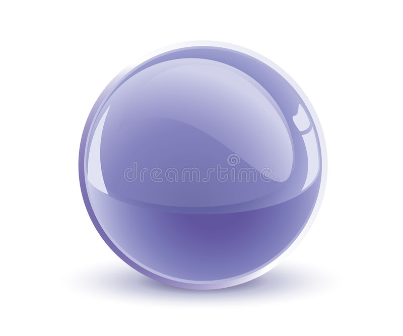 3d vector violet sphere vector illustration