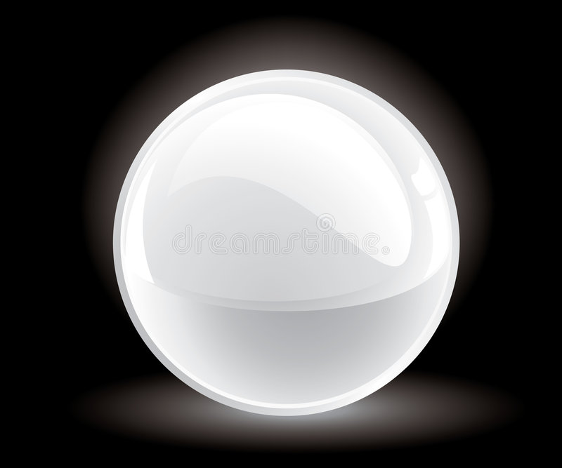 3d Vector White Sphere Stock Images