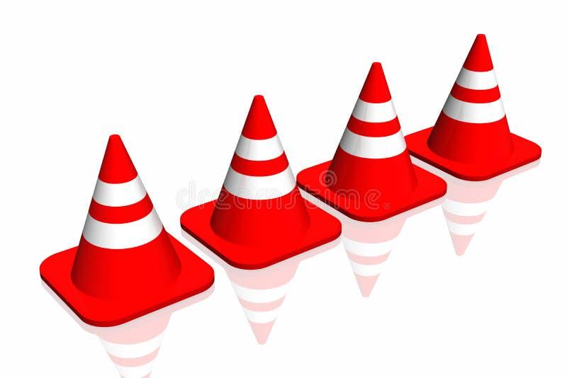 3d verkeerskegel stock illustratie