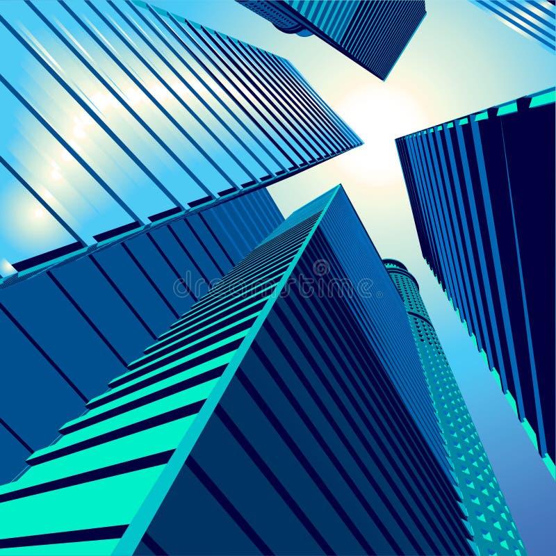 3D vetor City5 ilustração do vetor