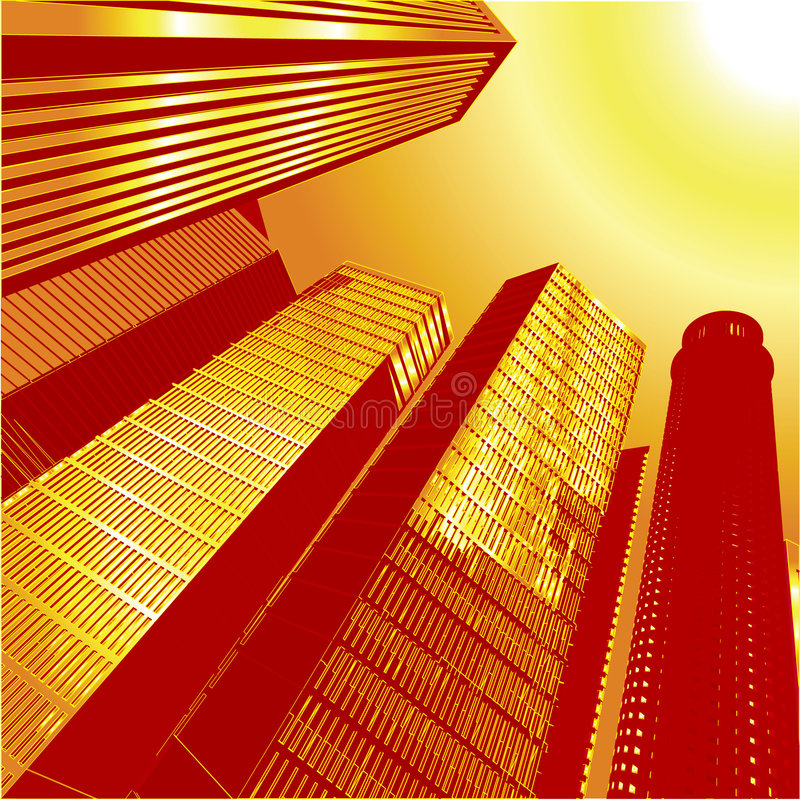 3D vetor City7 ilustração do vetor