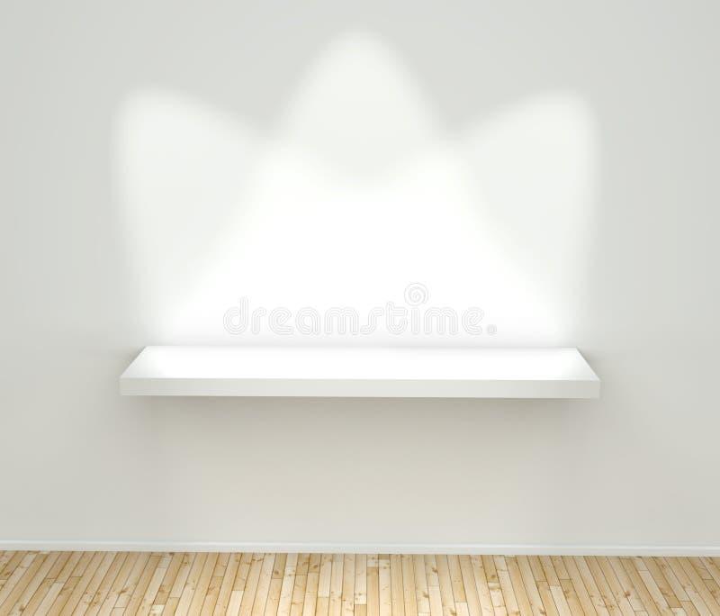 3d vident l'étagère blanche illustration libre de droits