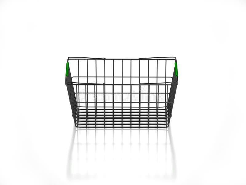 3D vident le panier à provisions illustration stock