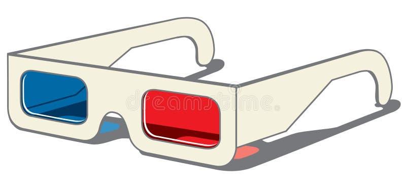 3D vidrios - vista lateral stock de ilustración