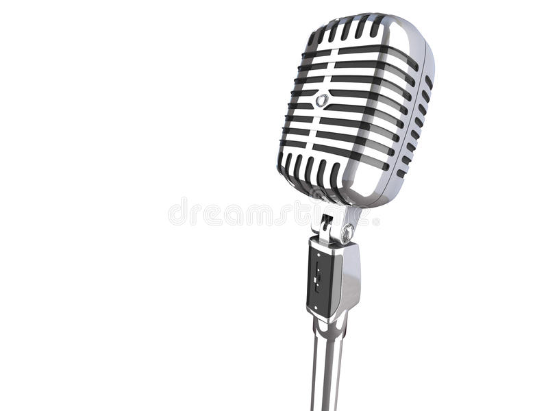 3d Vintage Microphone Stock Photography