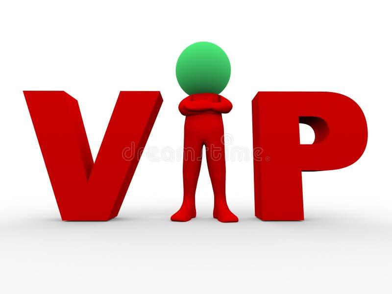 3d vip - pessoa muito importante ilustração royalty free