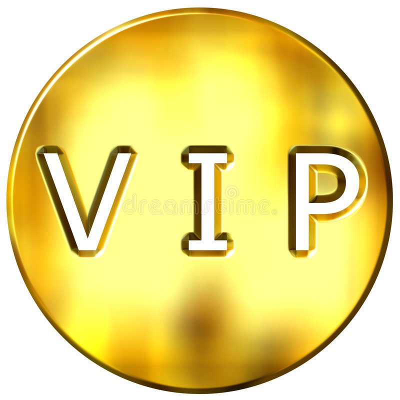 3D VIP quadro dourado ilustração royalty free