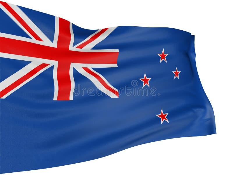 3D vlag van Nieuw Zeeland stock afbeelding