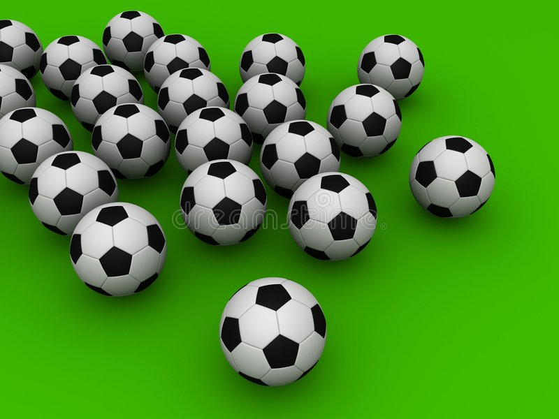 3d voetbal vector illustratie