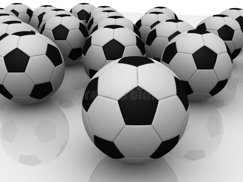 3d voetbal stock illustratie