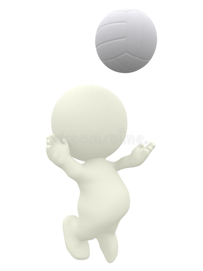 Download 3D Volleyball player stock illustration. Image of abstract - 15726343