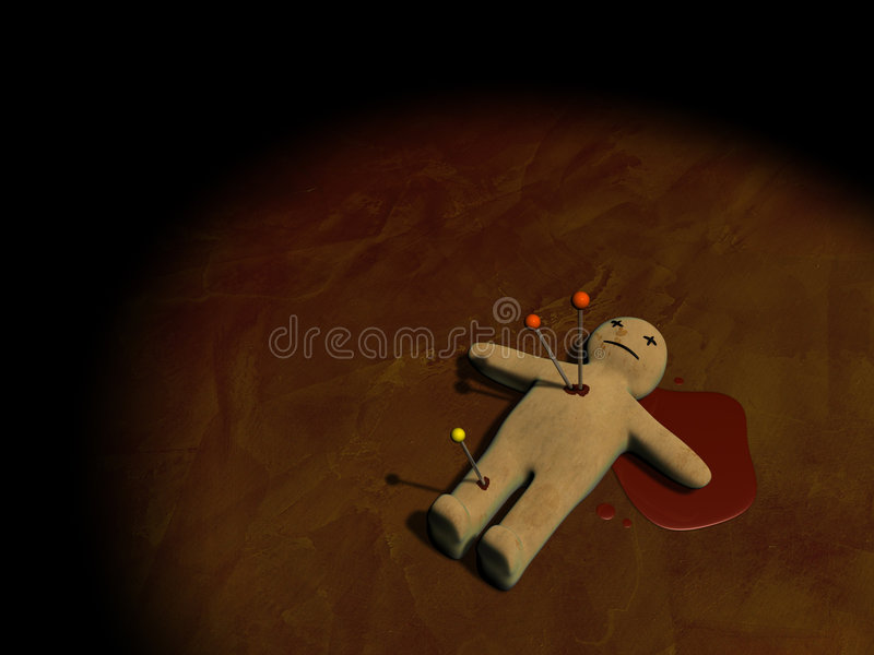 3d voodoo doll stock illustration