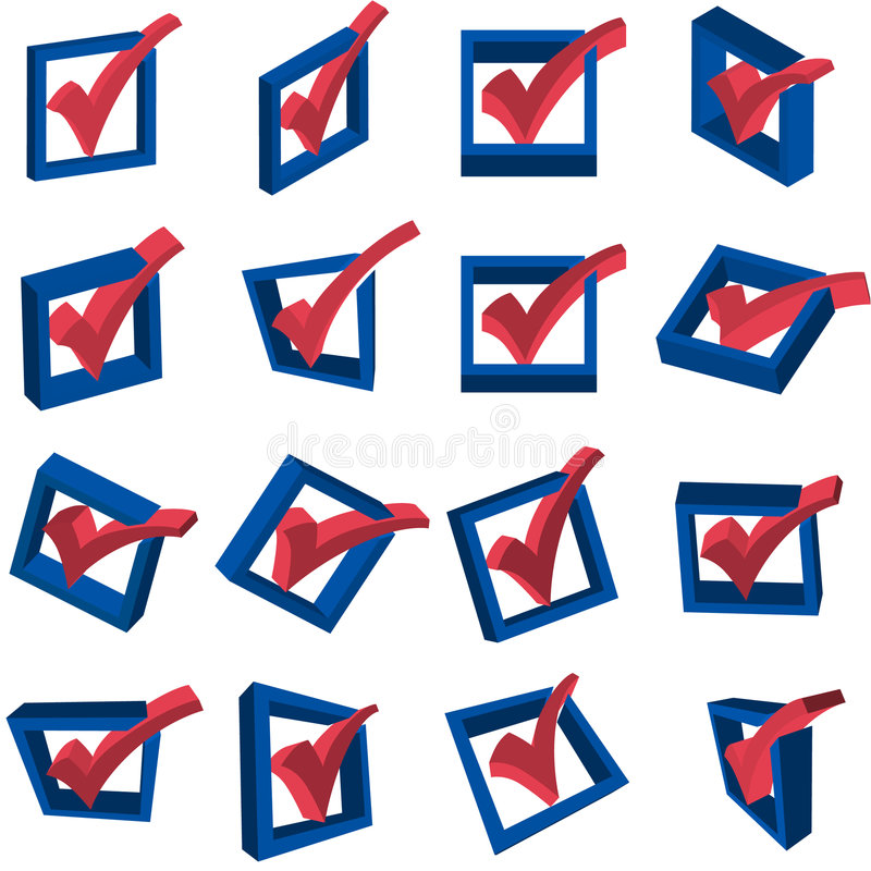 Download 3D Voting Checkmarks stock vector. Illustration of checkbox - 9314696