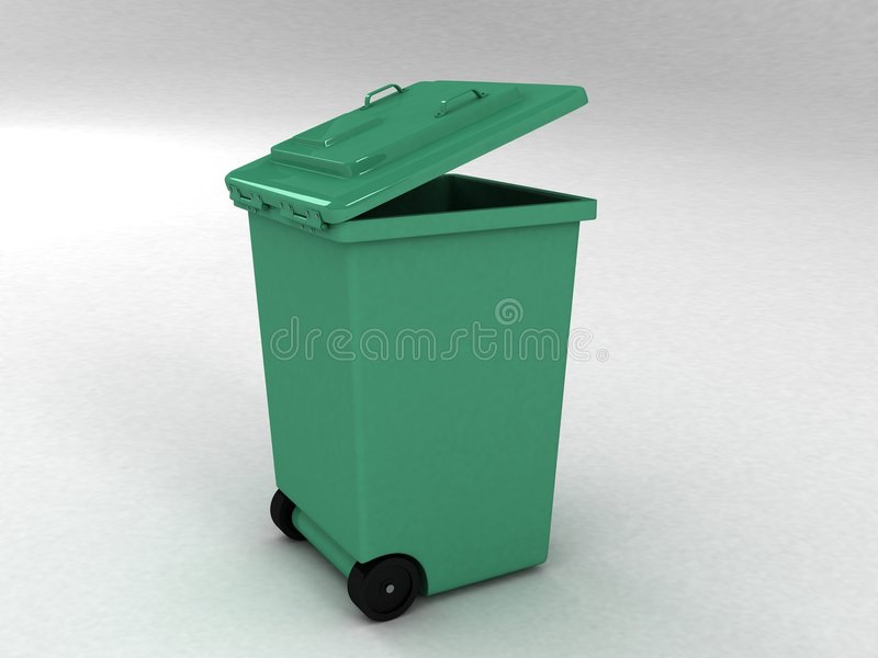 3d vuilnisbak stock illustratie