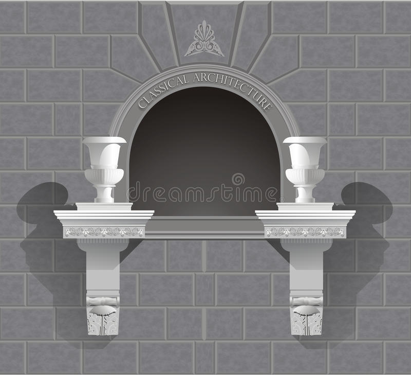 3D Wall Niche Shrine In Vector Stock Photos