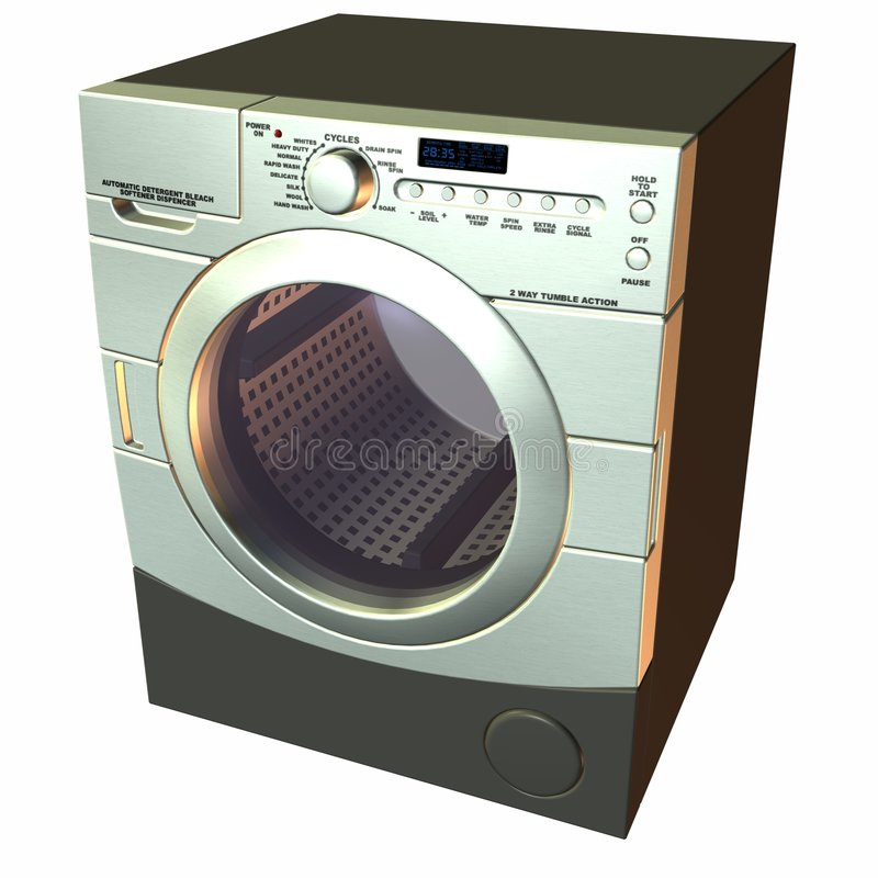 3D Washer. 3 D Computer Render of an Washer stock illustration
