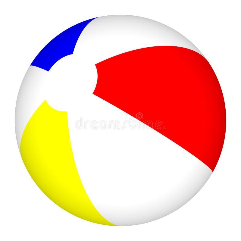 3D Wasserball getrennt auf weißem Hintergrund lizenzfreie abbildung